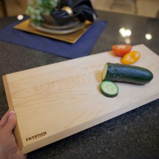 Maple wood cutting board for personal cooking.