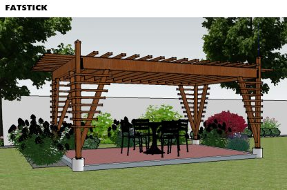 DIY pergola by FATSTICK.